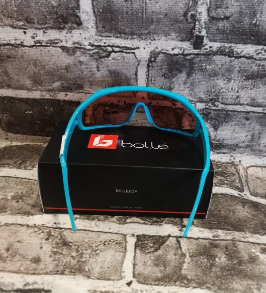 occhiali bollè azzurri nuovi
